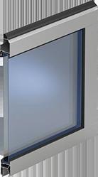 Варианты исполнения - Панорамные ворота  AluPro