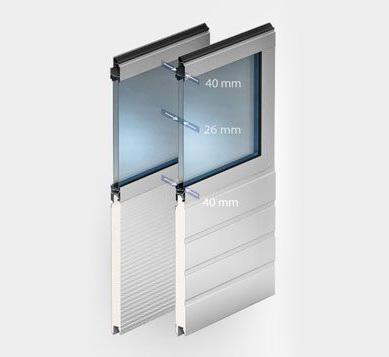 Типы полотна - Панорамные ворота  AluPro